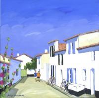 Ruelle de St Clément (acryl.40x40 cm)