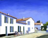Les Maisons Blanches (Acryl.41 x 33 cm )