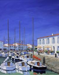 Le Bassin de St Martin - Acrylique - 81 x 65 cm