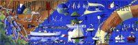 Le Bleu de la Mer (acryl. 25 x 75 cm )