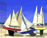 Les Voiles (acryl. 41 x 33 cm)