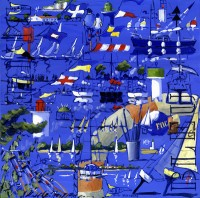 Carré Bleu (acryl. 40 x 40 cm)