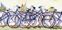 Les Vélos (acryl. 30 x 60 cm)